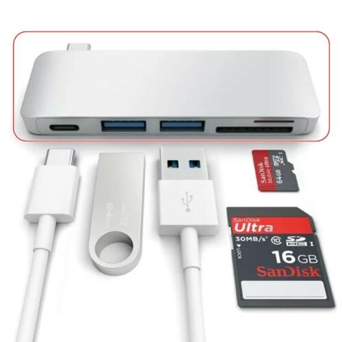 USB-C Multiport Type-C HUB Adapter Converter Charging Date Sync For Macbook Pro