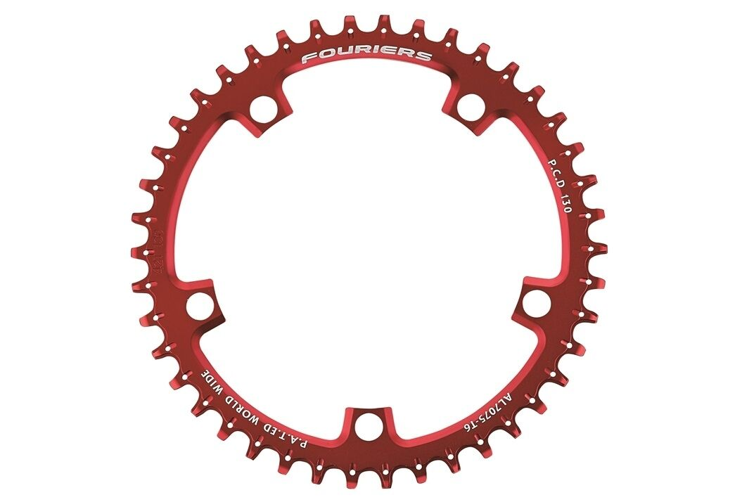 FOURIERS Narrow Wide Tooth BCD 130 Chainring strada bicicletta Time Trial Chainrueda 006
