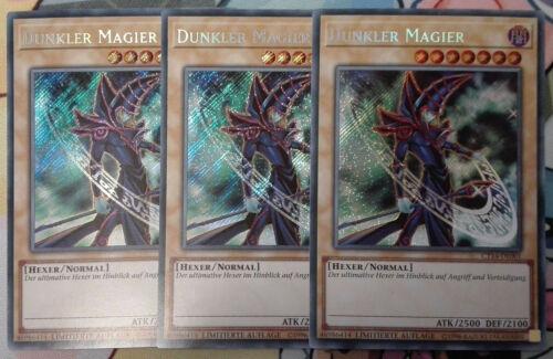 Playset NM Ct14-de001 Yu-Gi-Oh Secret Rare 3 x Dark Magic