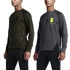NIke Men's RU NTF Asymmetric Crew Neck Activewear Jogging Top Sweatshirt