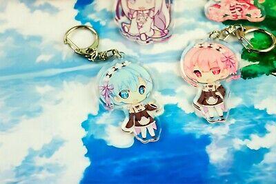 Re:zero Button Set Emilia Twin Maids Rem Ram Hearts Anime Cute Rezero Girls