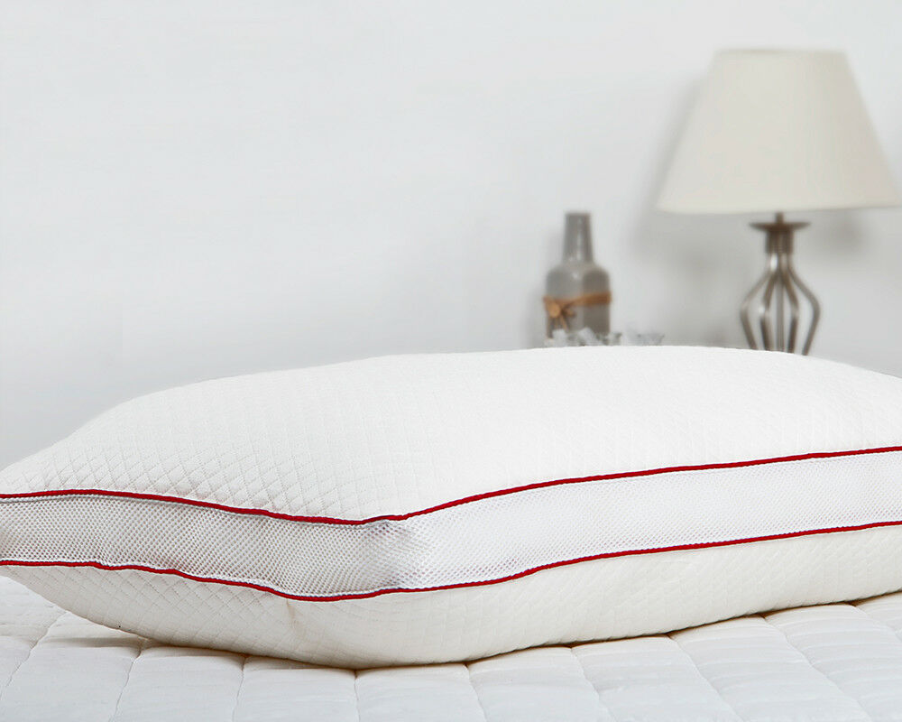 Ultimate Air Breathe Sateen Piping Diamond Knitted Health Down Pillow