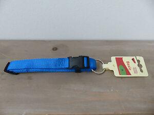 NEU-Nylon-Hundehalsband-Gr-M-20mm-x-40-55cm-NEU