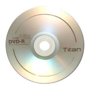 600 Titan Brand 16X Logo DVD-R DVDR Blank Disc 4.7GB 120Min   eBay