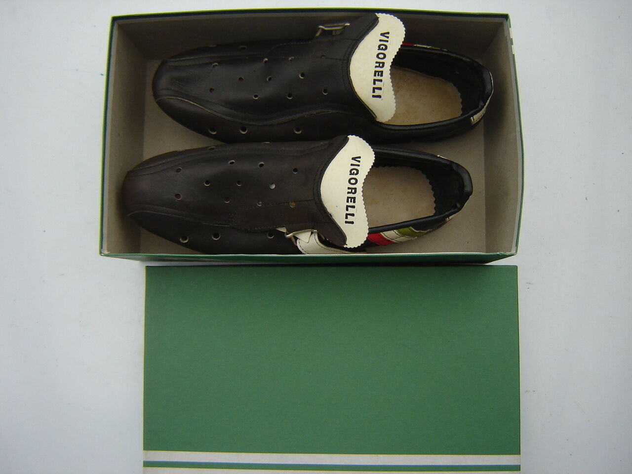 VIGORELLI VINTAGE LEATHER BICYCLE chaussures Taille 40 NOS - NIB