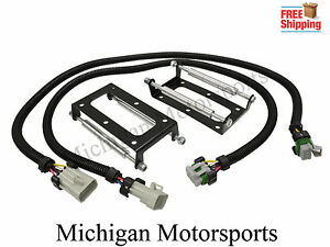 """8 D585 Ignition Coils Remote Mounting Bracket w// 36/"""" Wire Extension LS2 LS3 LS7"""