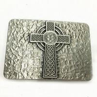 Celtic Cross Silver Belt Buckle Man Black No Leather Belt Buckle New