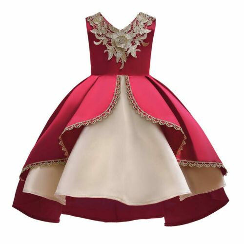 Princess Wedding Baby Flower Formal Bridesmaid Kid Girl Party Dress Dresses Tutu