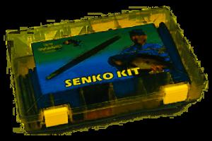 Gary Yamamoto Senko Variety Pack Soft Plastic Worm//Stickbait Fishing Starter Kit
