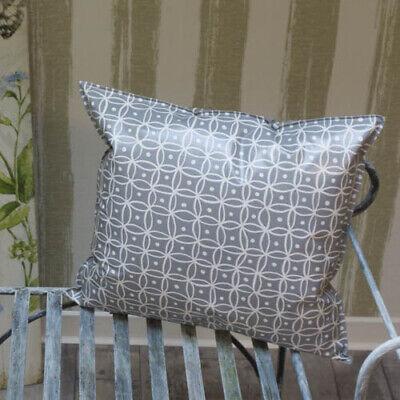 Outdoor Kissen Gartenkissen Loungedeko Grau mit weißen Punkten in 3 Größen