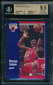 BGS 9.5 MICHAEL JORDAN 1991-92 91-92 Fleer #29 Chicago Bulls RARE GOAT GEM MINT