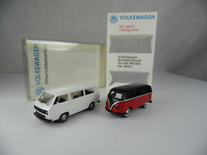 br1845-Brekina-Wiking-VW-40-Jahre-Transporter-T-1-amp-T-3-1-87-BOX-mint-Deale