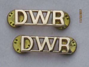 Duke-of-Wellington-039-s-Regiment-Dwr-Shoulder-Titles-Anodised-Aluminium