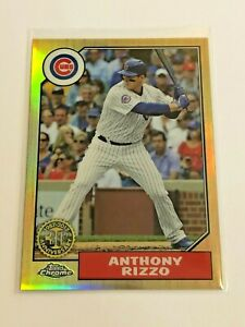 2017-Topps-Chrome-Baseball-039-87-Topps-Insert-Anthony-Rizzo-Chicago-Cubs