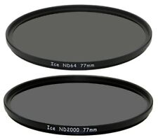 ICE 77mm Set ND2000 & ND64 Filter Neutral Density ND 77 Optical Glass 6 /11 Stop