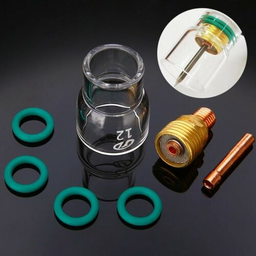 7pcs TIG Welding Torch Stubby Gas Lens Pyrex Glass Cup Kit For WP-9//20//25 Newest