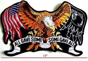"""Pow Mia Certains Gave Toutes Fallen Heroes Freedom Défenseur Motard 12 """" US"""