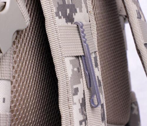 Titanium Ti KeyChain Sidewind Tactical Key Ring Organization Belt Hook QuickDraw