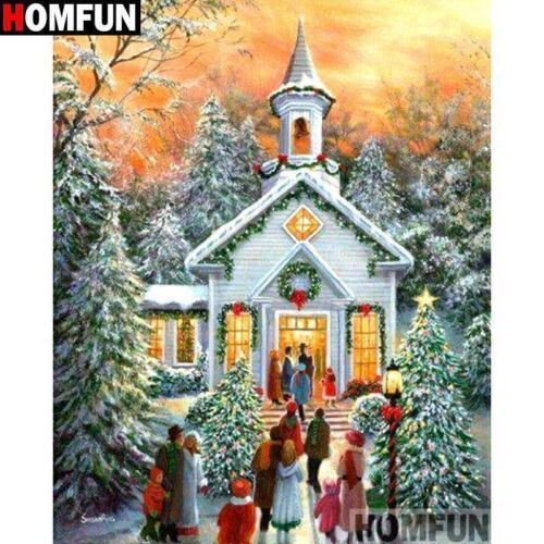 5D Diamond Painting Christmas Church Kit