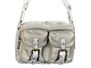 39ecebc9583c Women s Handbag Naj-Oleari Light Grey with flowers Shoulder strap ...