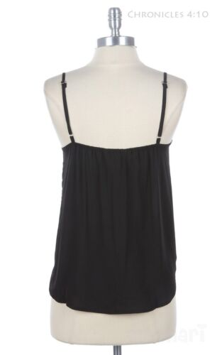Big Ribbon Front Adjustable Spaghetti Strap Ruffled Tank Top Solid Camisole Cute