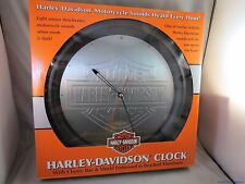 HARLEY DAVIDSON BAR SHIELD CLOCK MOTORCYCLE SOUNDS Roadking Deluxe Fatboy Bagger