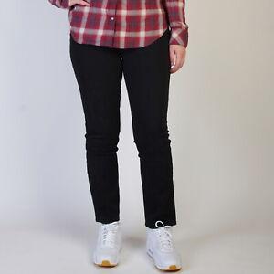 Levi-s-529-Curvy-Skinny-Black-Sateen-stretch-Damen-Jeans-32-32