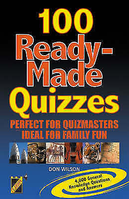 Ready Made Quizzes, Gillan, Tony, Very Good Book