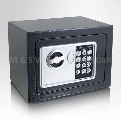 Safe Tresor elektronisch Minisafe Wandtresor Wandsafe Grau