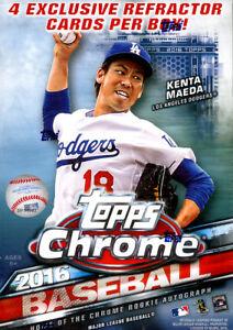 2016-Topps-Chrome-Baseball-Factory-Sealed-Blaster-Box-Sepia-Refractor-Pack-Qty