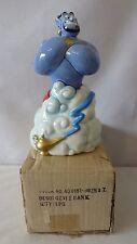Walt Disney Genie With Aladdin Lamp Bank W/Gold MIB #H226