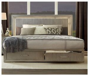 Image Is Loading Contemporary Design King Size Bed 1pc Set Led