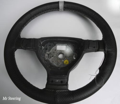 sangle volant couvrir Fits 99-06 Fiat Punto MK2 cuir perforé gris