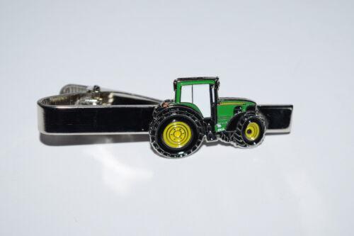 Tractor Verde Clip De Corbata-Regalo/novedad Traje de Fiesta de Bodas Novio Esmalte de cultivo