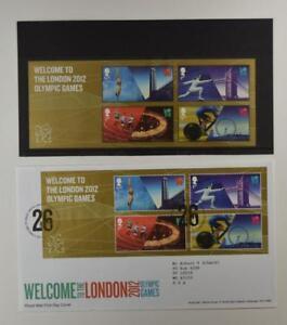 2012-ROYAL-MAIL-PRESENTATION-FOLDER-LONDON-2012-OLYMPIC-GAMES-amp-2-FDC-LOT-394