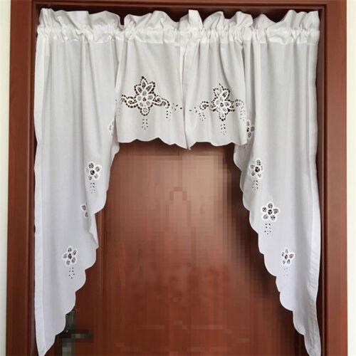 Window Treatments Hardware Elegant Pair Of Battenburg Lace Embroidery Cutwork White Curtain Swags Home Garden Devidesert Com