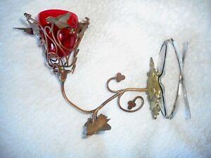 ANCIENNE VEILLEUSE D'EGLISE D'AUTEL-lampe de sanctuaire- MURALE -XIXème-CUIVRE STlYoS9j-07192336-101756711