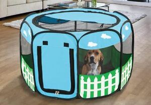 Image is loading Portable-Small-Pet-Playpen-Puppy-Tent-Dog-Cat- & Portable Small Pet Playpen Puppy Tent Dog Cat Exercise Kennel ...