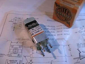 Miller-12-H1-Coil-Input-IF-Transformer-for-255-270KHz-Used-Qty-1