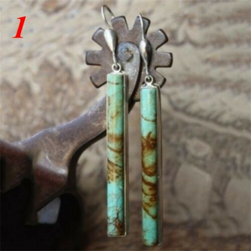 oreille étalon des bijoux les boucles d/'oreilles turquoise crochet 925 silver