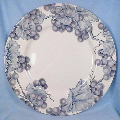 Barratts Vineyard Dinner Plate Purple Grapes Blue Leaves England 59