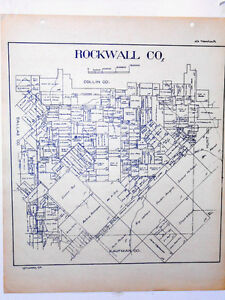 Old Dallas Map.Old Rockwall County Texas Land Office Owner Map Fate Mobile City