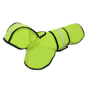 Reflective-Dog-Raincoat-Waterproof-Small-Large-Pet-Rain-Coat-Jacket-Hoodie-Green