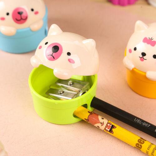Cute Cat Plastic Pencil Sharpener For Kids Student School Office HomeK7T