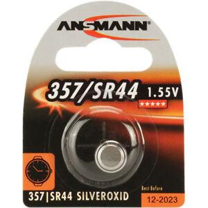 ANSMANN Silberoxid-Kno<wbr/>pfzelle, 1,55V, 357/SR44 (1516-0011), 1er-Blister
