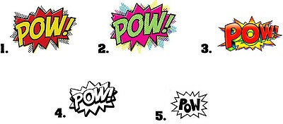 Waterslide Nail Decals Set of 20 - Comic Book POW