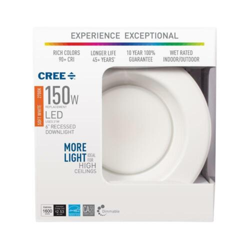 2x CAN DIMMABLE RECESSED CEILING DOWNLIGHT 150W soft white 2700k CREE LED BR30