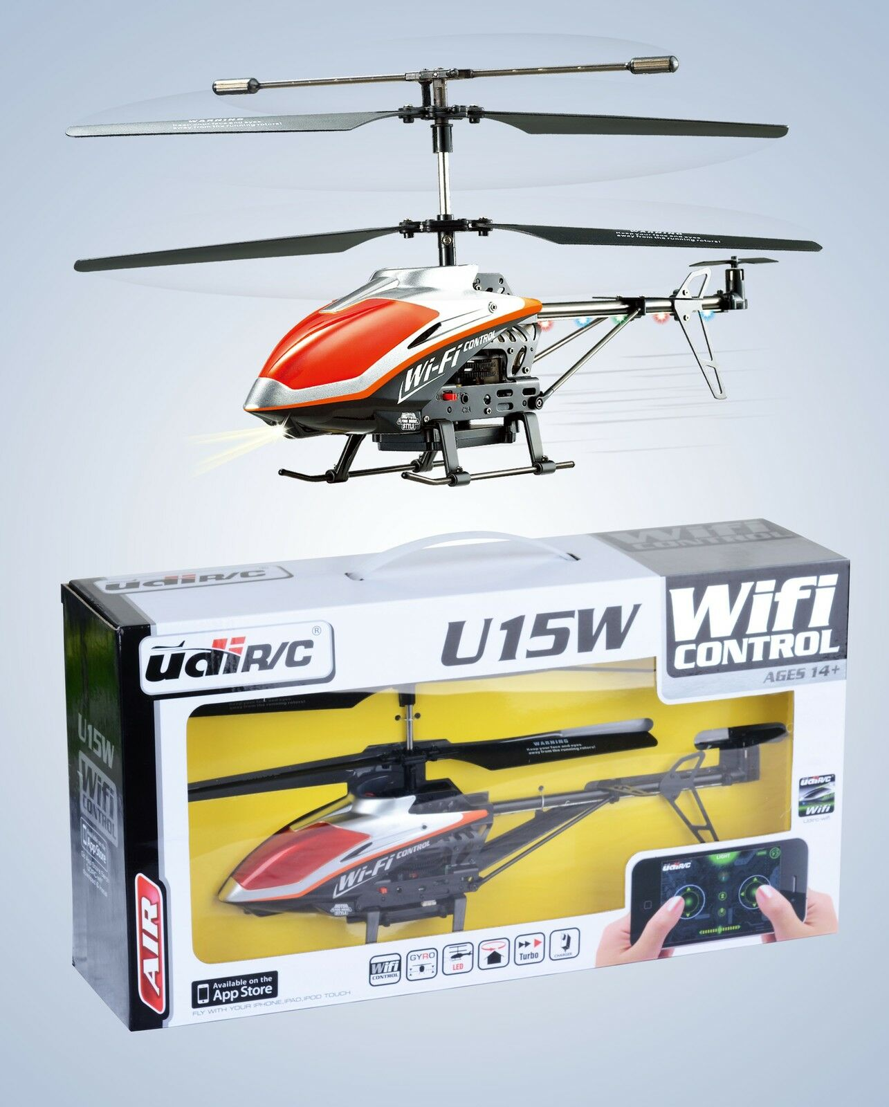 RC u15w coassiale Elicottero WIFI IPHONE - iPad controllato