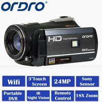 Ordro Hdv-d395 Full Hd 1080p 18x Zoom 3lcd Touch Digital Video Camera Camcorder