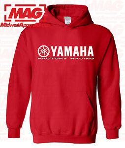 YAMAHA FACTORY RACING HOODIE SWEAT SHIRT PINK BLACK YZF R1 R6 YFZ BANSHEE MOTO